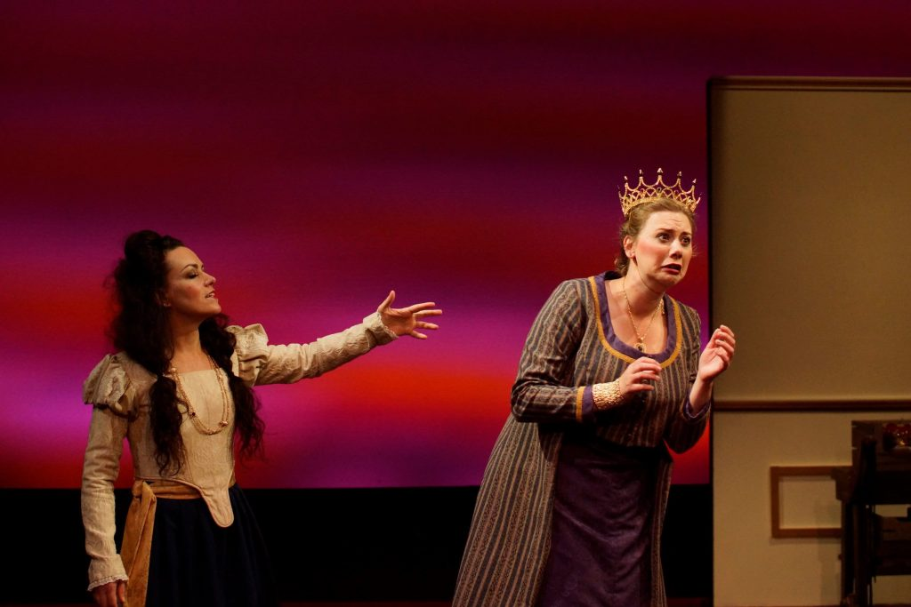 """""""Rosencrantz and Guildenstern are Dead"""" performers Rachel Finan and Demy Marti."""