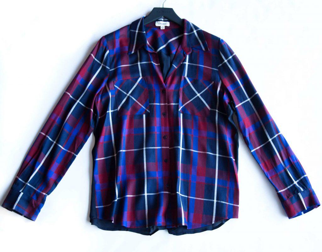 L'AGENCE plaid shirt available at AK Rikk's.