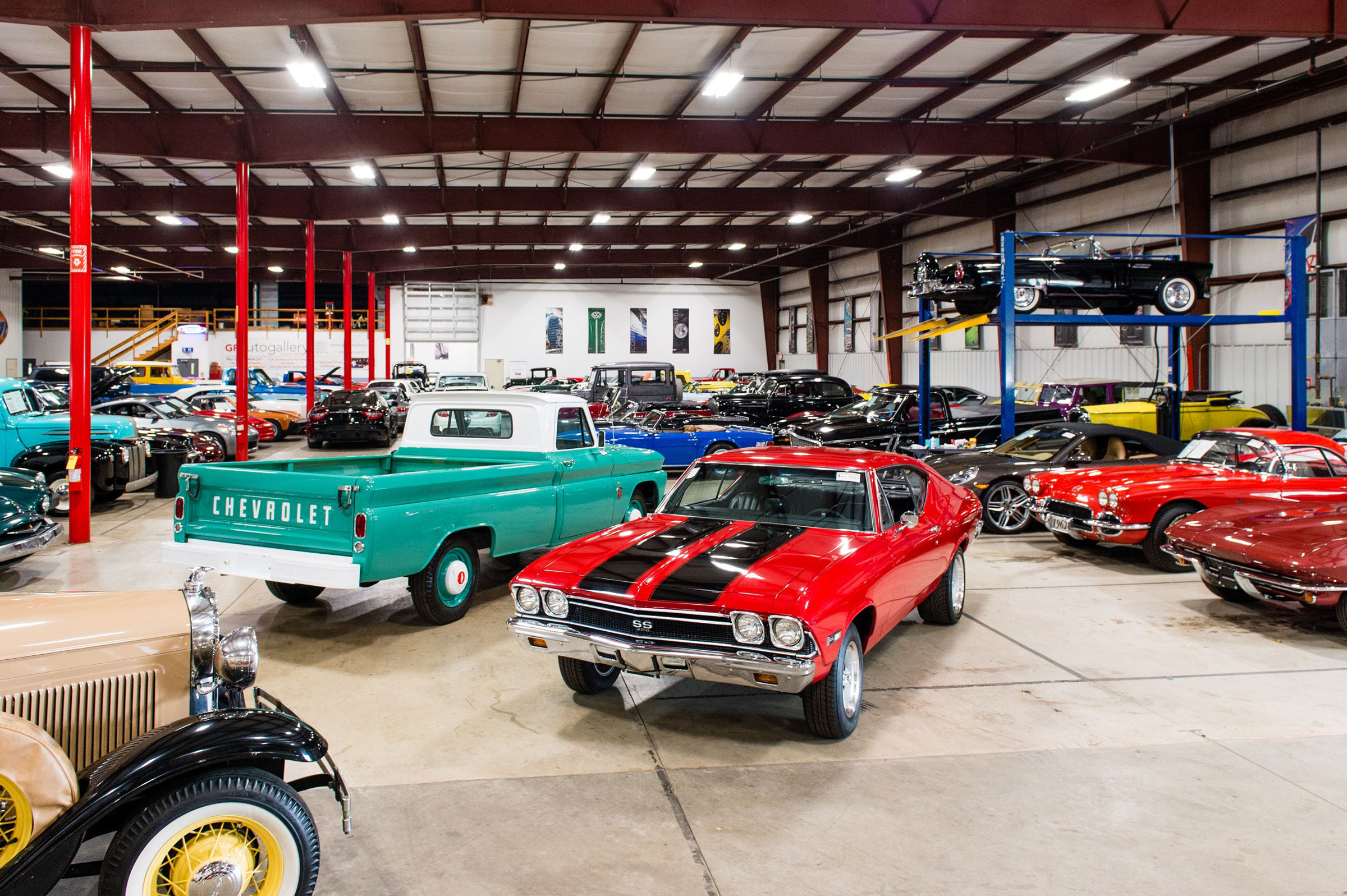GR Auto Gallery has a public showroom filled with classics.