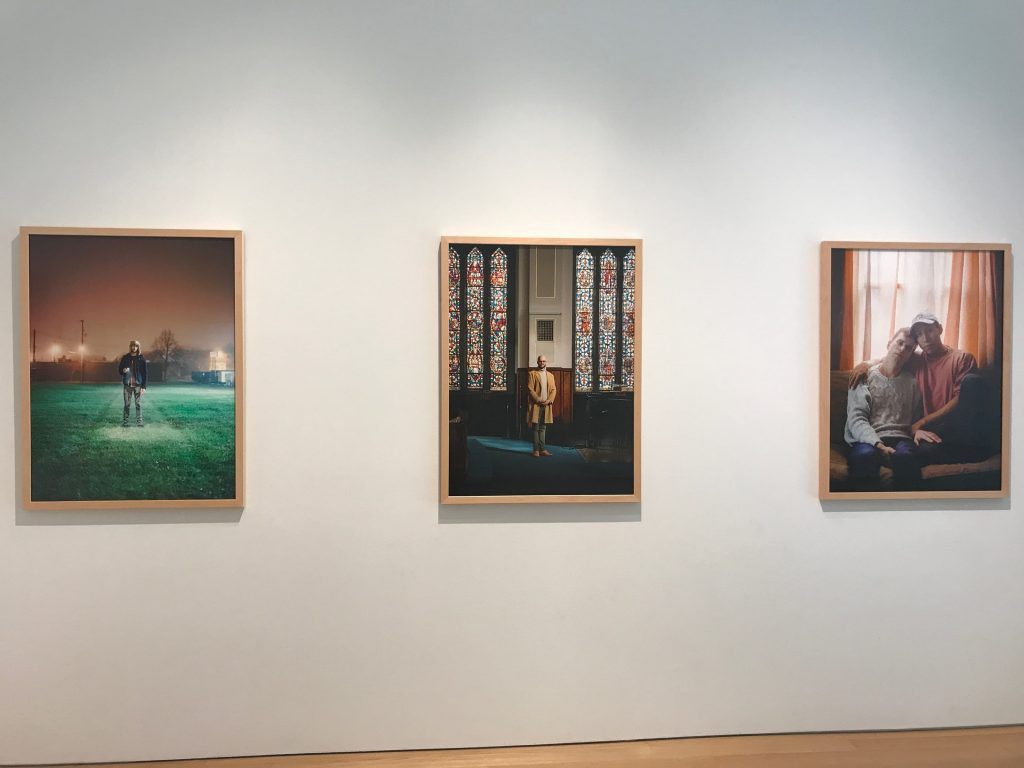 """Three portraits from """"As Much Heaven As Earth"""" entry."""