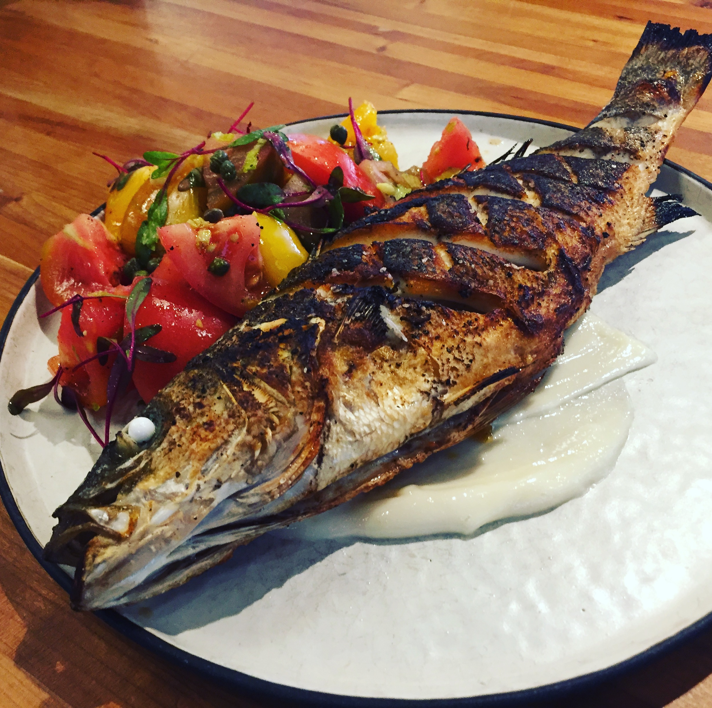 Bistro Bella Vita's whole roasted branzino