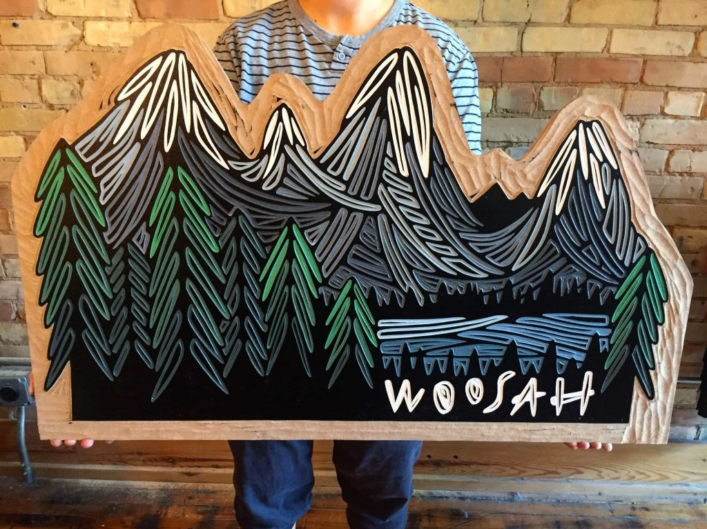Artist and shop owner Erica Lang will offer a series of woodcuts for the first time this season.