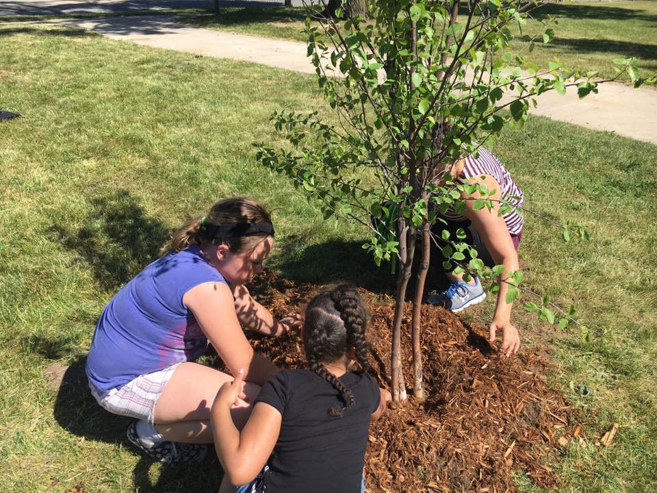 Friends of Grand Rapids Parks invite families to help plant 120 trees.