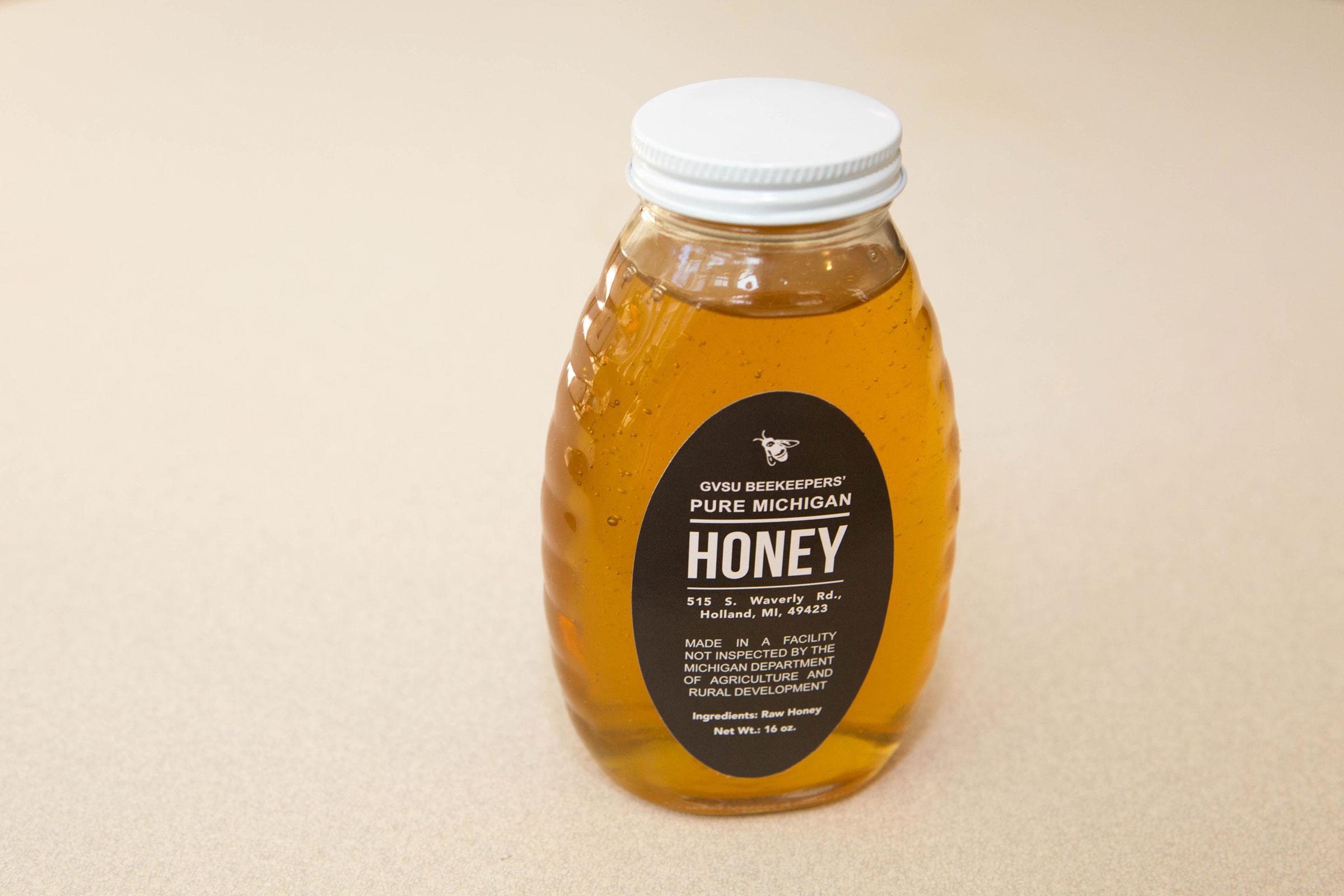 GVSU Beekeepers harvest honey every fall.