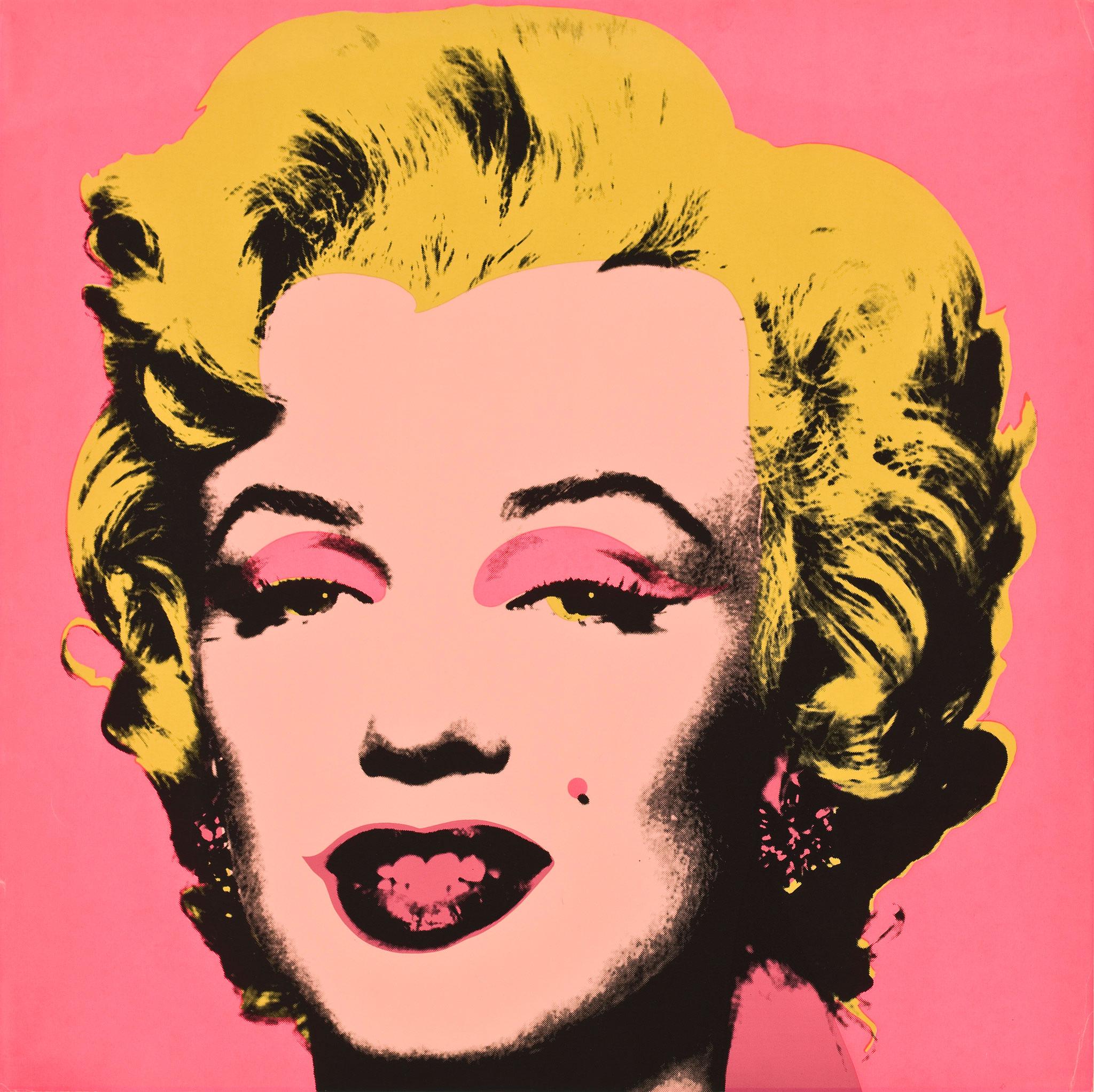 Andy Warhol, Marilyn (Marilyn Monroe), 1967, screenprint on paper, 36 x 36 inches.