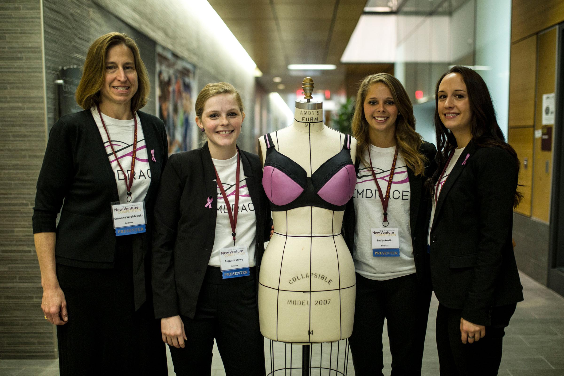Central Michigan University students help develop thermal bra.