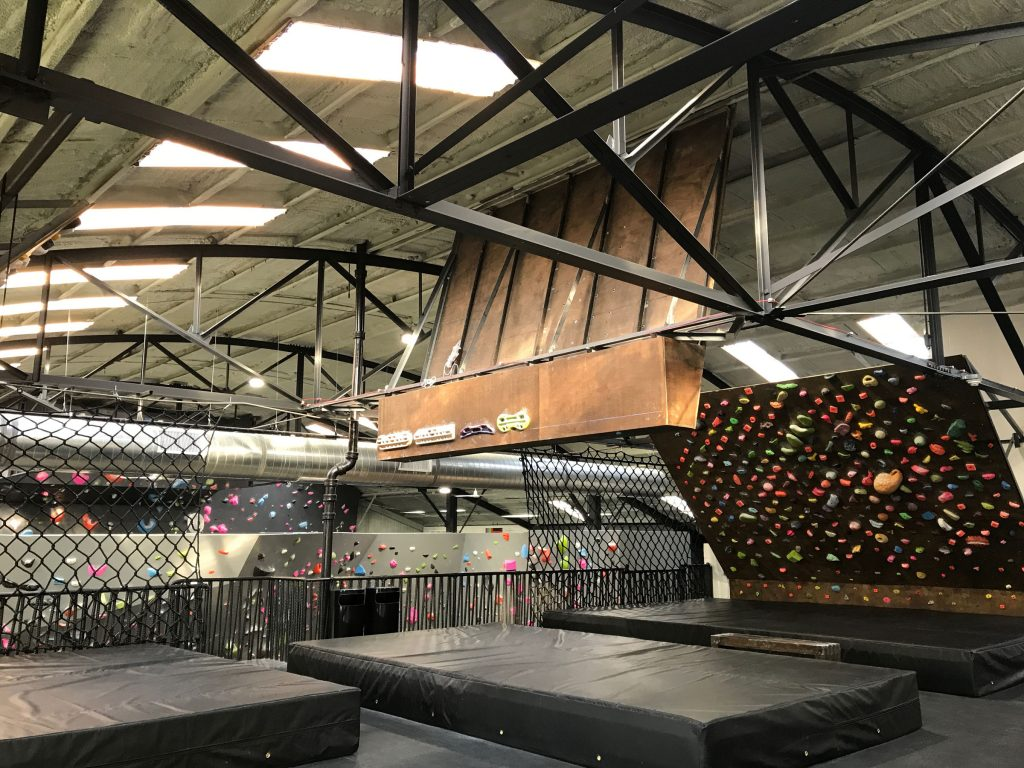 Terra Firma has multiple climbing walls, free weights and ropes, and a yoga studio.