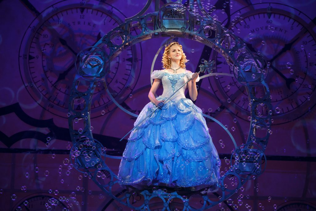 """Ginna Claire Mason as Glinda in """"Wicked."""" Photo by Joan Marcus"""