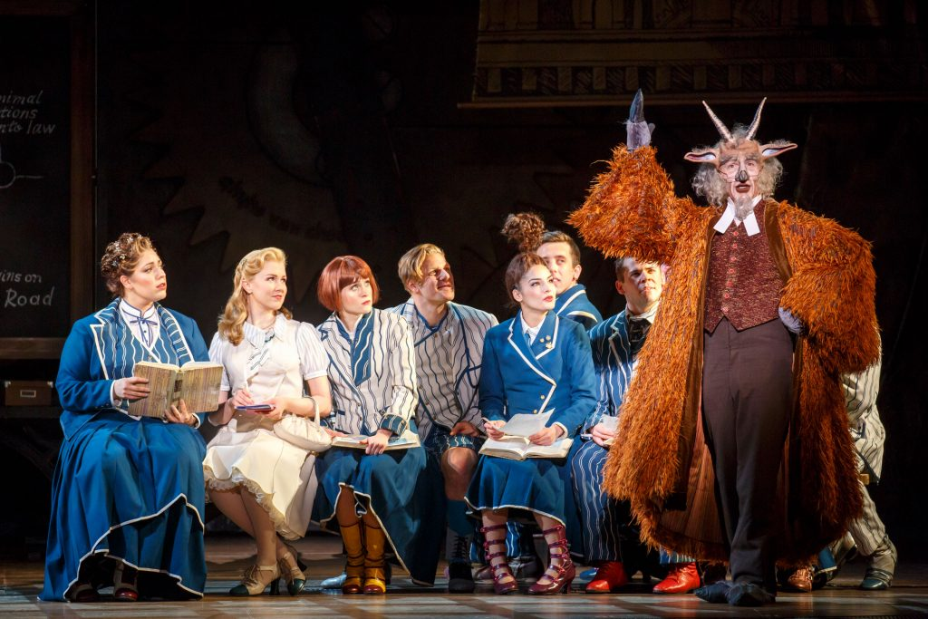 Wicked, Harry Bouvy as Doctor Dillamond and the North American Touring Company of WICKED. Photo by Joan Marcus