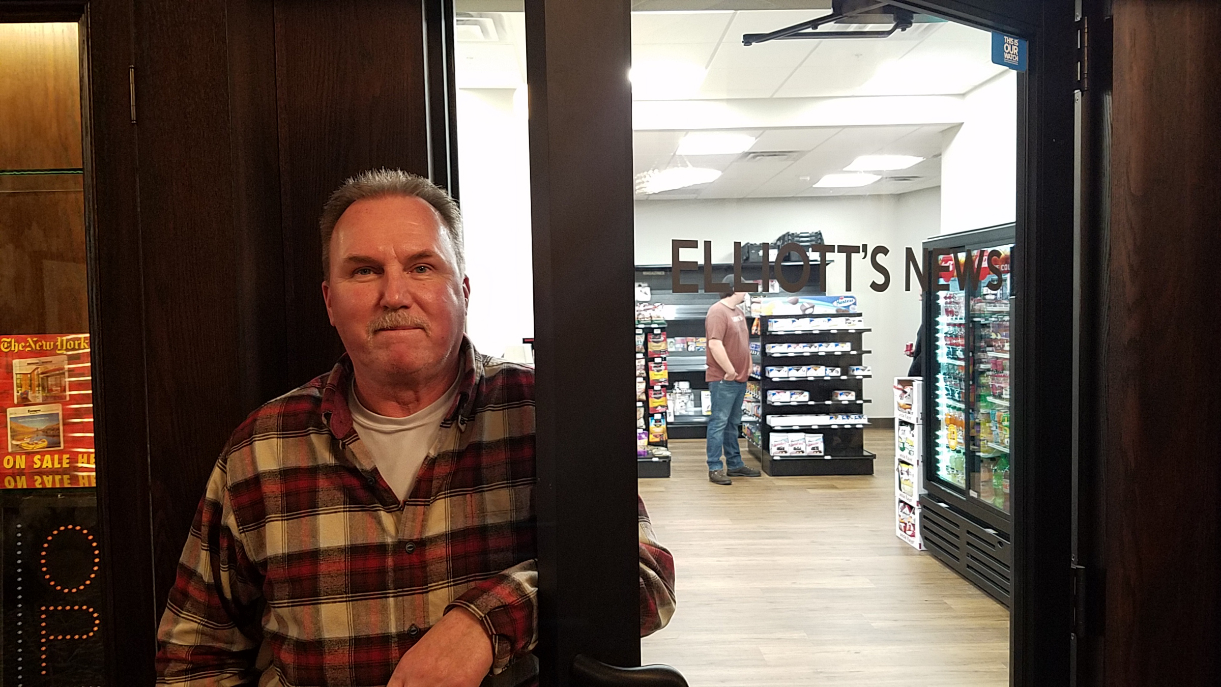 Bill Bennett is excited to re-open Elliott's Newsstand in McKay Tower.