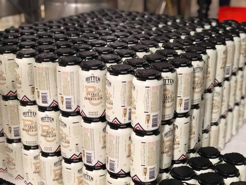 Mitten Brewing Co. releases first canned beer as part of 5 year anniversary celebration.