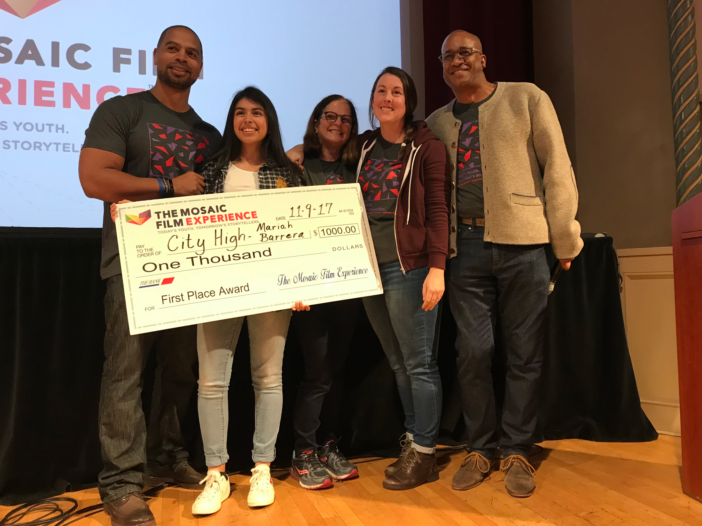 City High School student named first place winner in Mosaic film challenge.