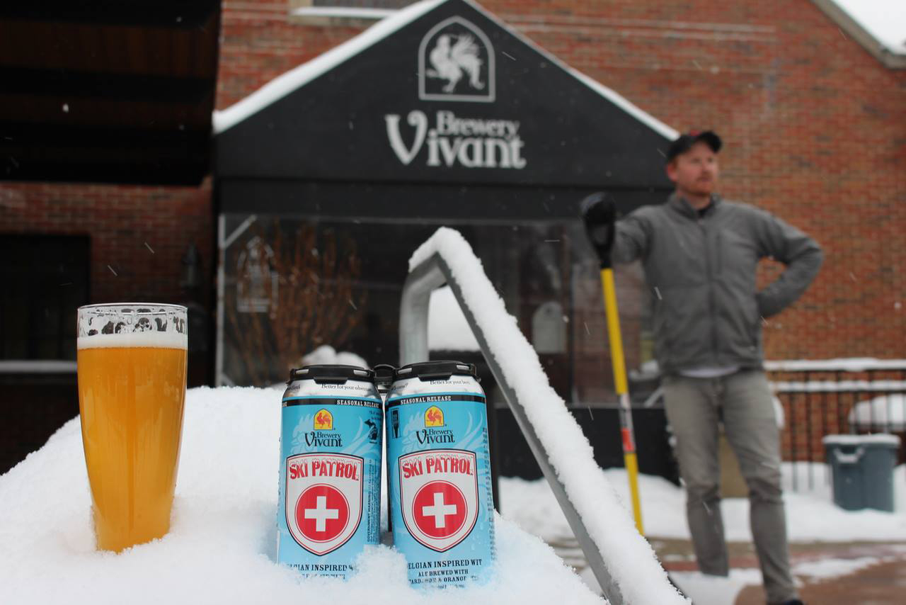 Brewery Vivant Ski Patrol beer is one of 25 beers being tapped on Thursday.