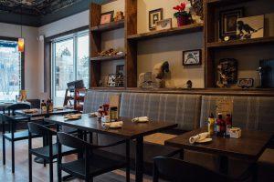 Matchbox creates a modern diner feel.