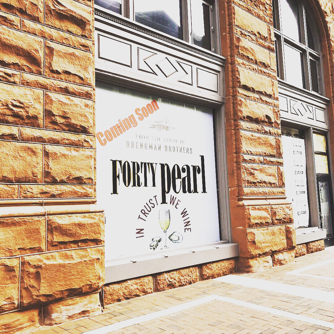 Forty Pearl plans to open in January.