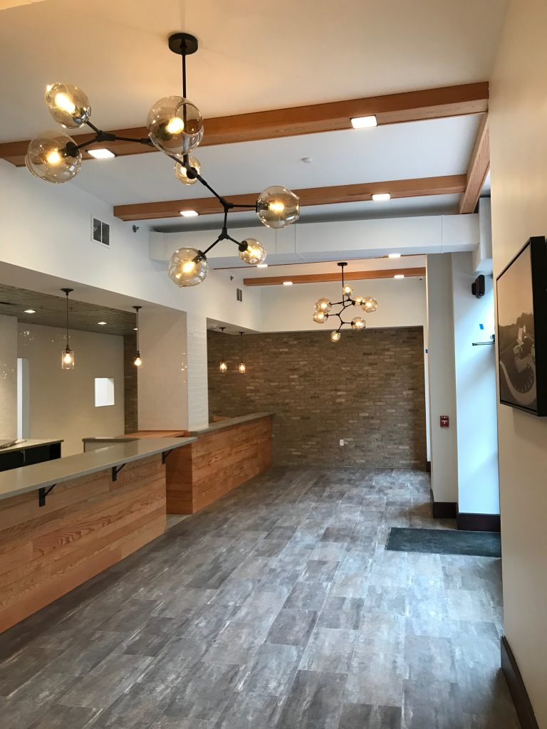 Forty Pearl blends the historical elements of its building with modern touches for a present day feel.