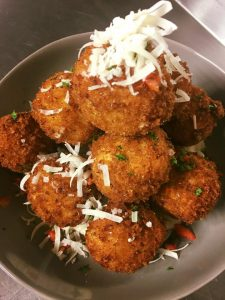 Amore's fried Mac & Cheese balls.