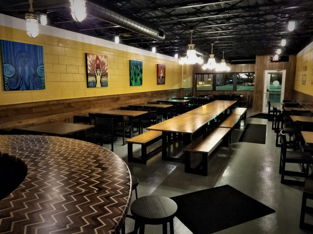 Brass Ring Brewery was designed as a warm, inviting place where people can engage with another over a pint.