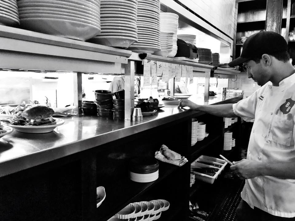 Butcher's Union executive chef Alexis Rocha in action