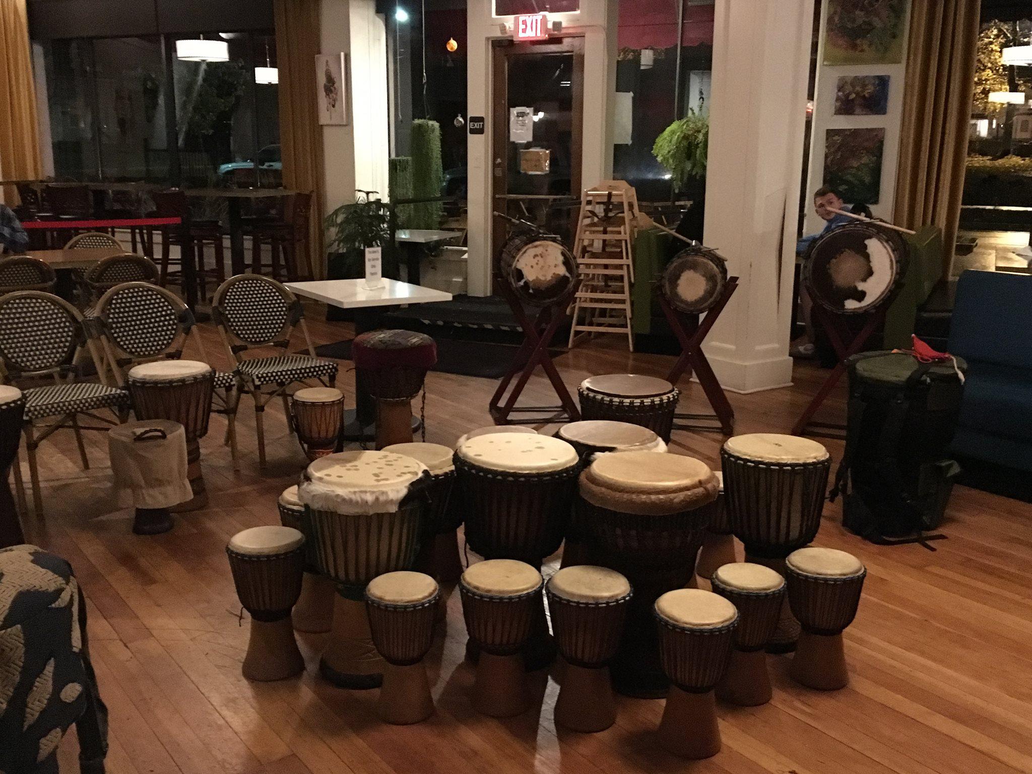 Creston Brewery drum circle
