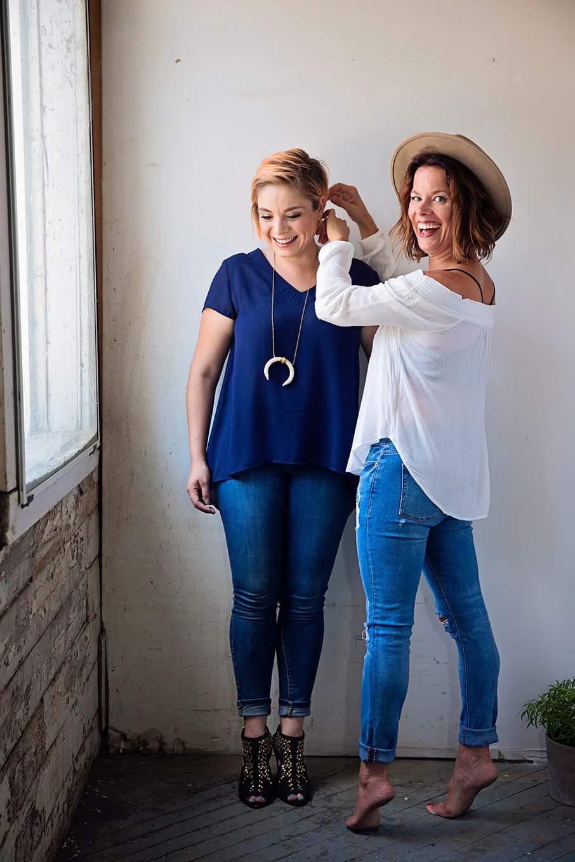 E+L Salon owners Erin Dressander & Lauren Glowacki