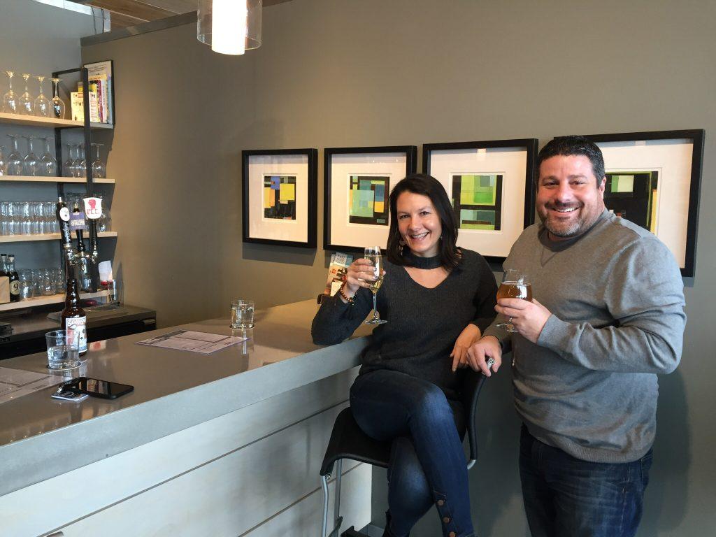 Missy Black & Sean Black enjoying the Gourmet Getaway staycation experience.