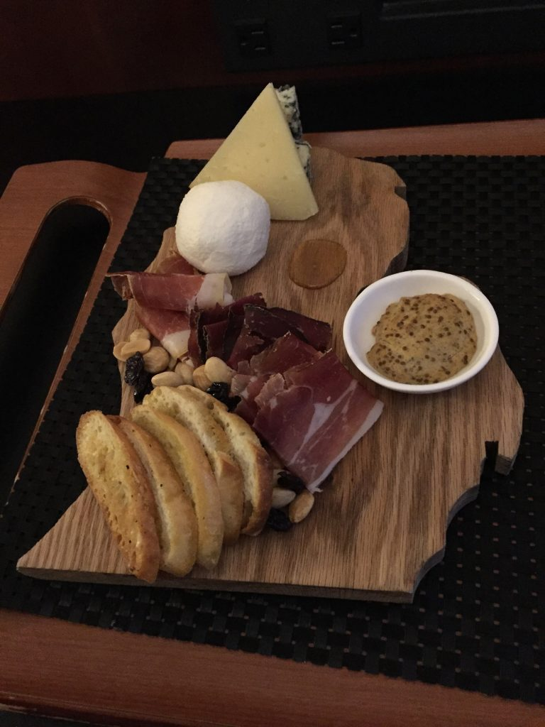 The Gourmet Getaway package includes a complimentary charcuterie board delivered to your room.