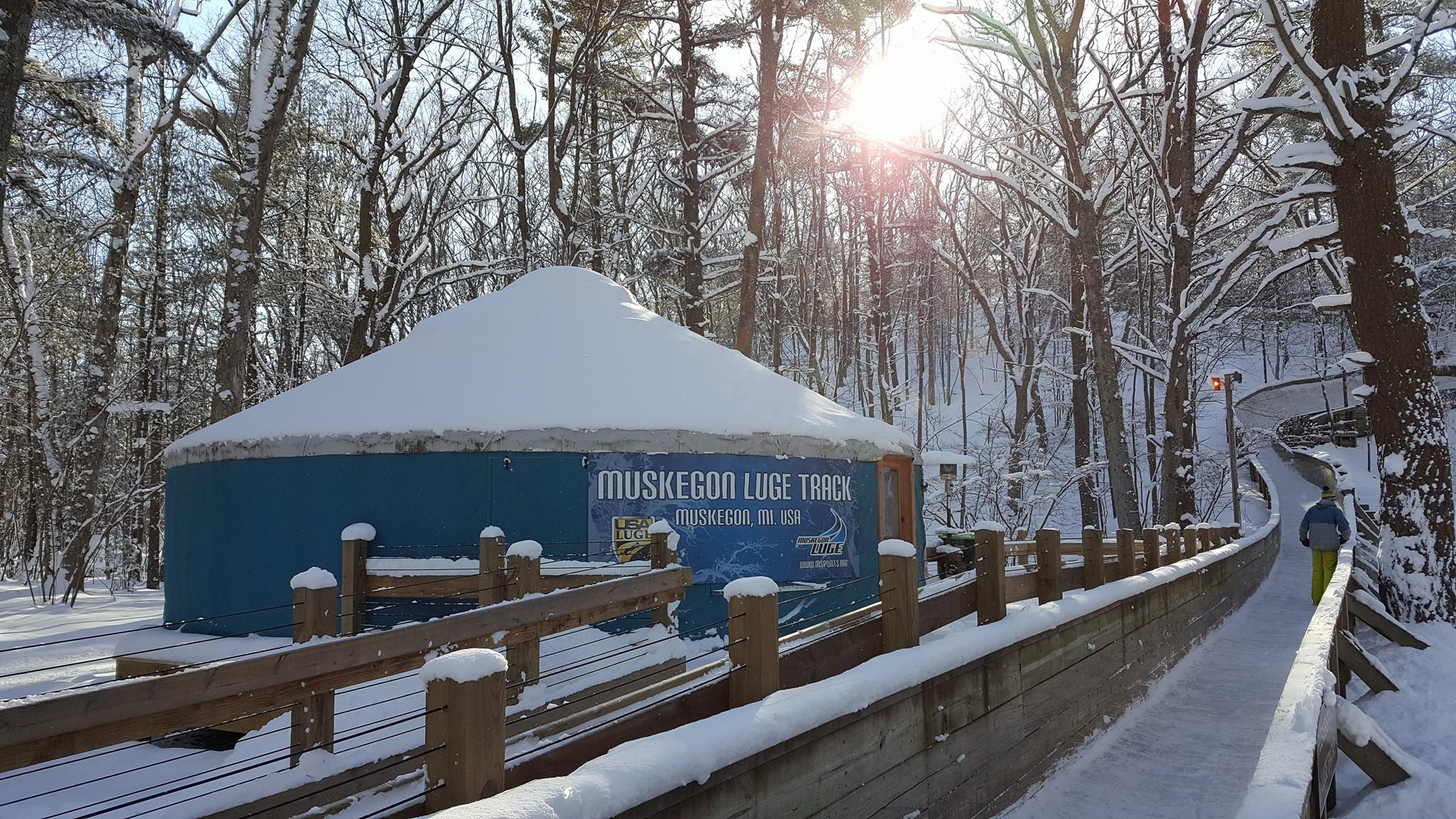 Muskegon Winter Sports Complex has one of the only luge tracks open to the public in the U.S.