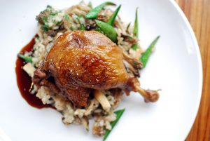 Gravity Taphouse's Beer Braised Duck.