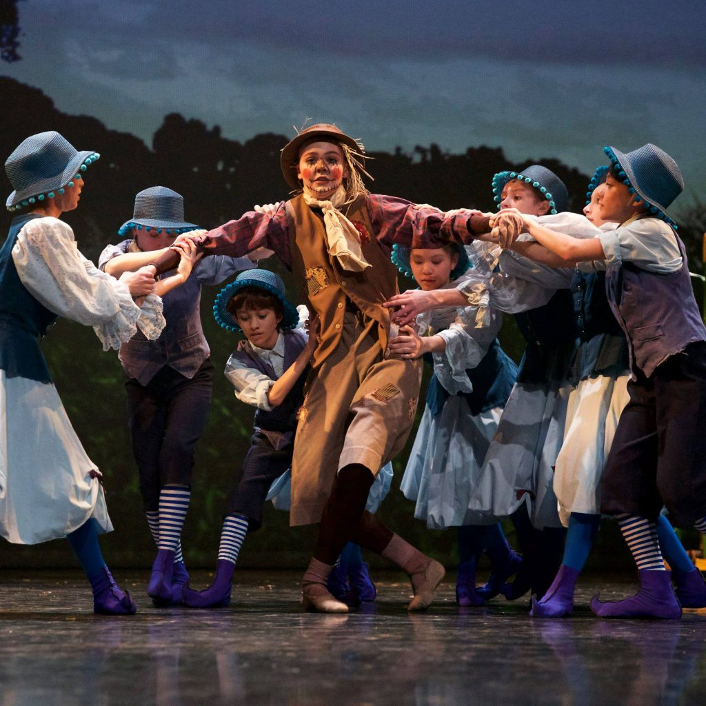 """Scarecrow from the Grand Rapids Ballet Junior Company's """"Wizard of Oz production."""