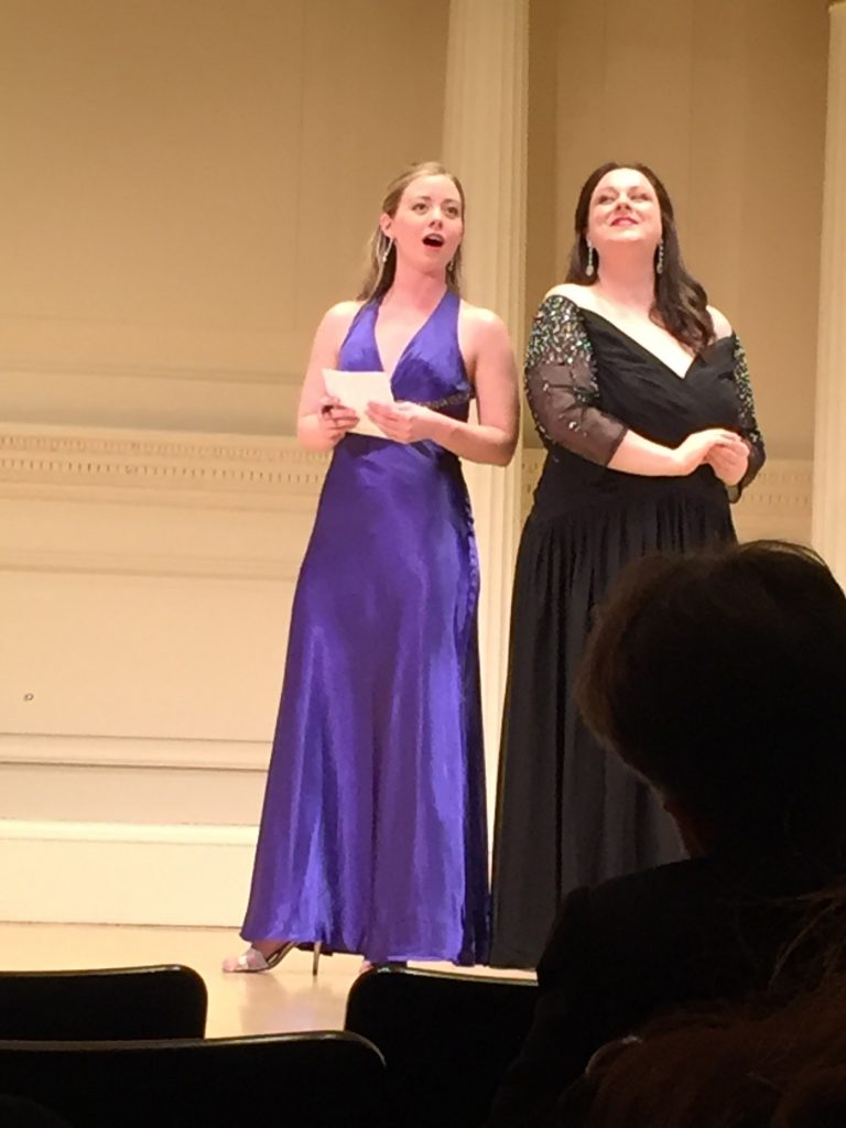 Madelaine Lane performed with the New York Lyric Opera last year in an opera showcase at Carnegie Hall.