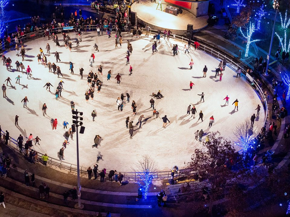 World of Winter also includes ice-skating at Rosa Parks Circle.