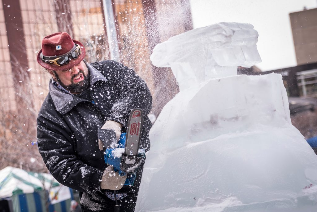 World of Winter evolved from previous DGRI seasonal events, such as ice sculpting competition Valent-ICE