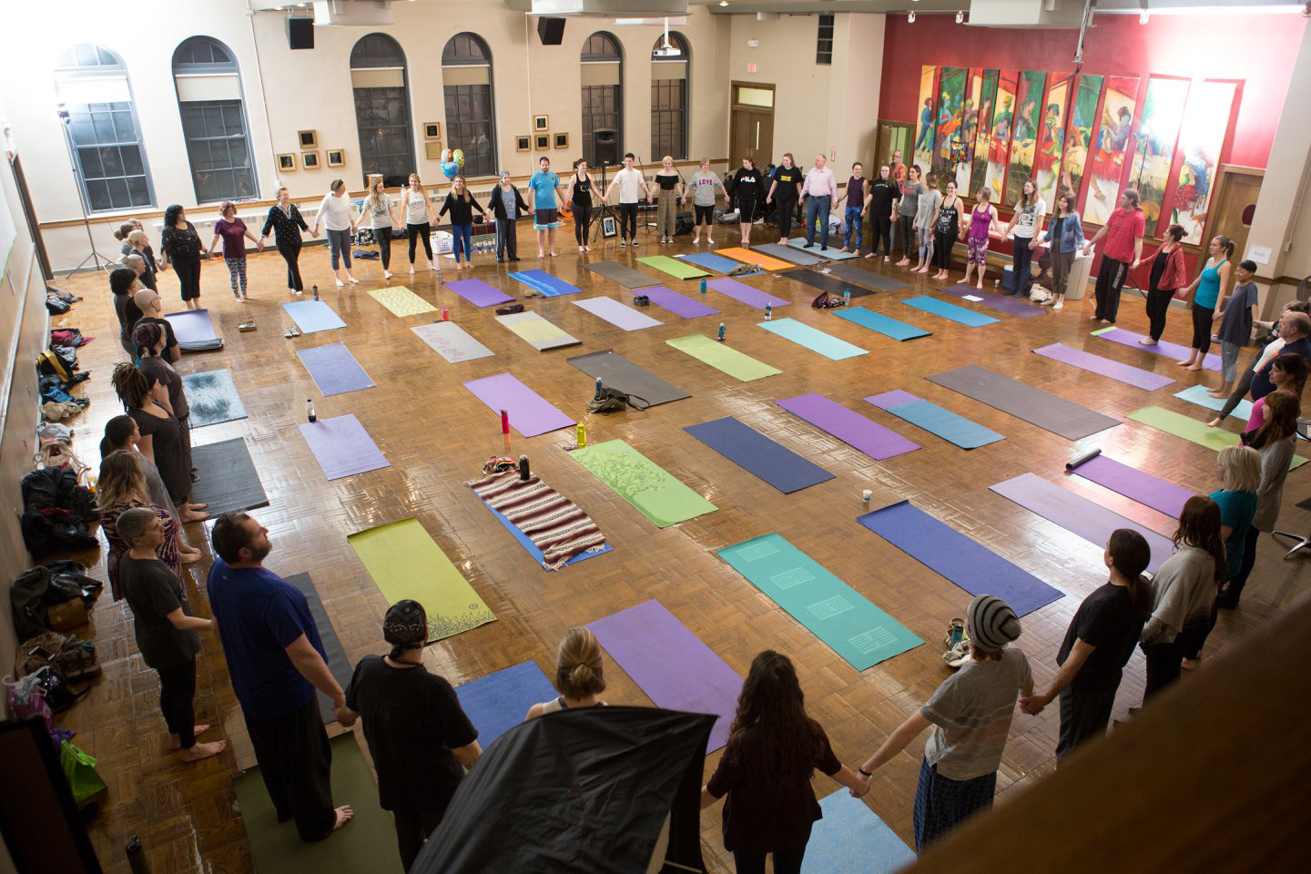 EmbodyGR offers a free yoga class Wednesdays at Fountain Street Church.