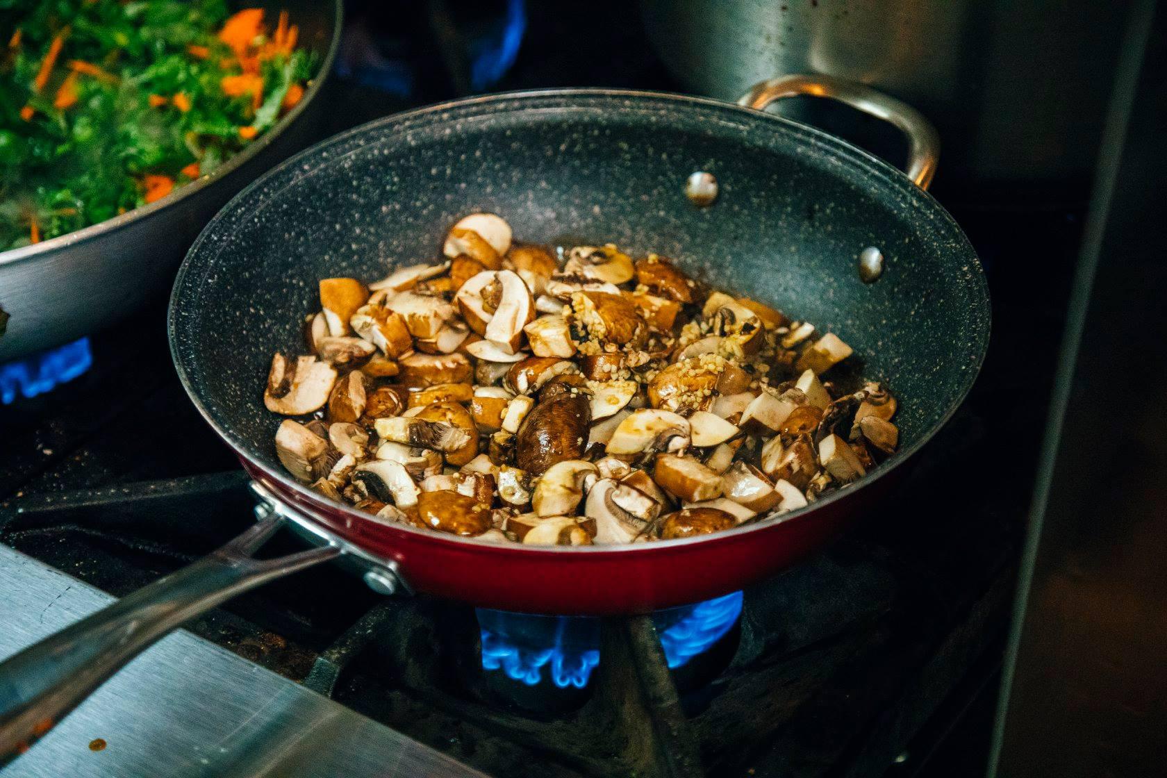 Irie Kitchen, sautéed mushrooms