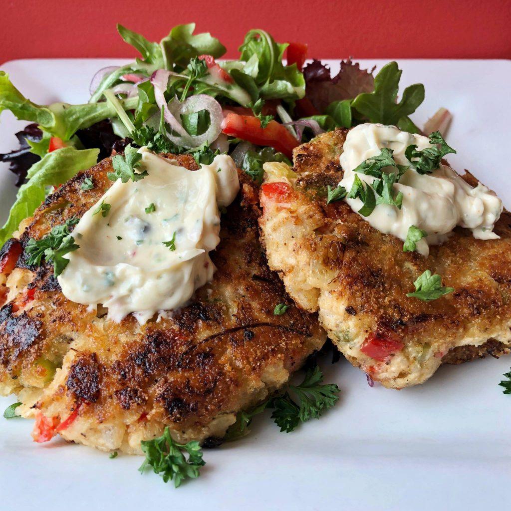 Marie Catrib's vegan crab cakes
