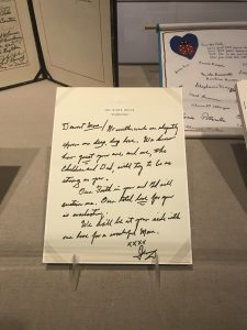 Gerald Ford wrote Betty a letter when she had to undergo breast cancer surgery.