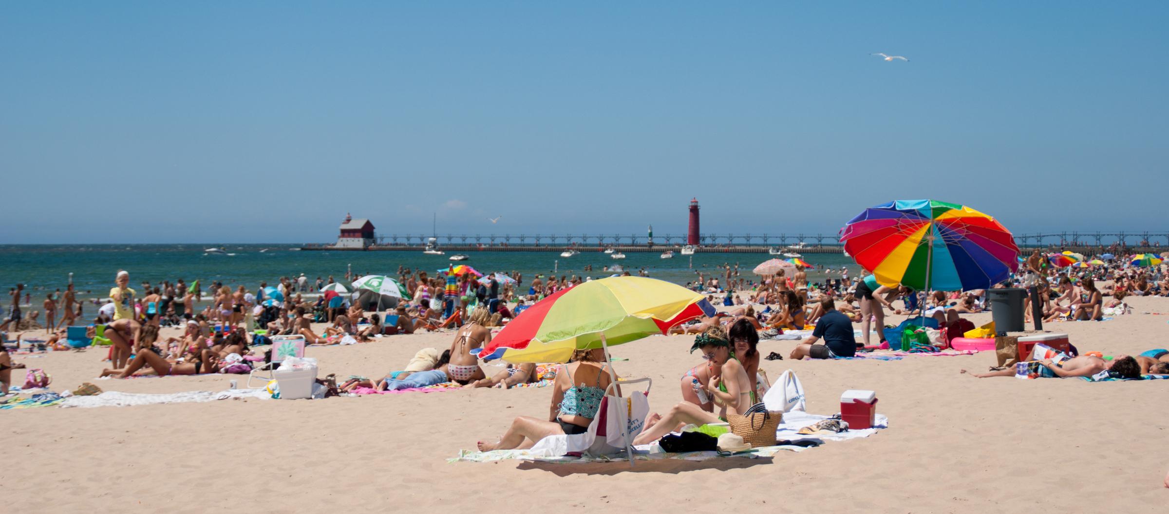 Grand Haven beach. Photo by Marci Cisneros