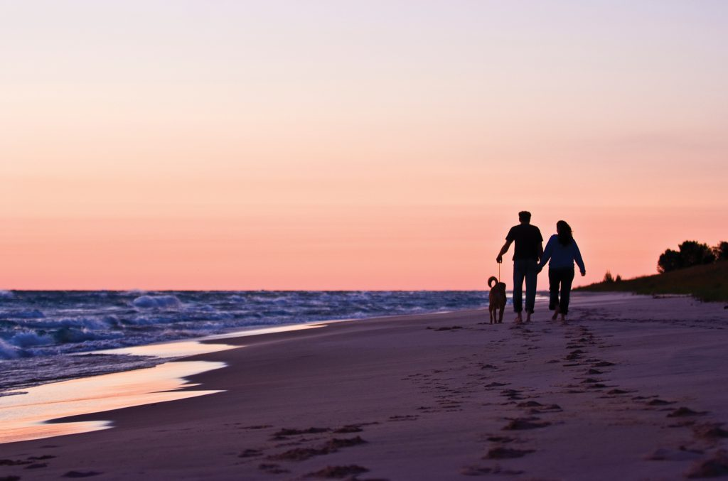 Head north on M-116 toward Ludington State Park and pull over anywhere along the seven-mile stretch of sandy shoreline.