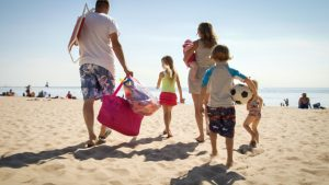 Ludington has great beaches for the whole family to enjoy.