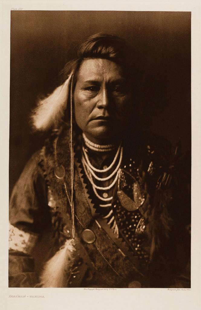Edward Sheriff Curtis Inashah - Yakima copyright 1910, published 1911 Volume 7 Portfolio, Plate 220