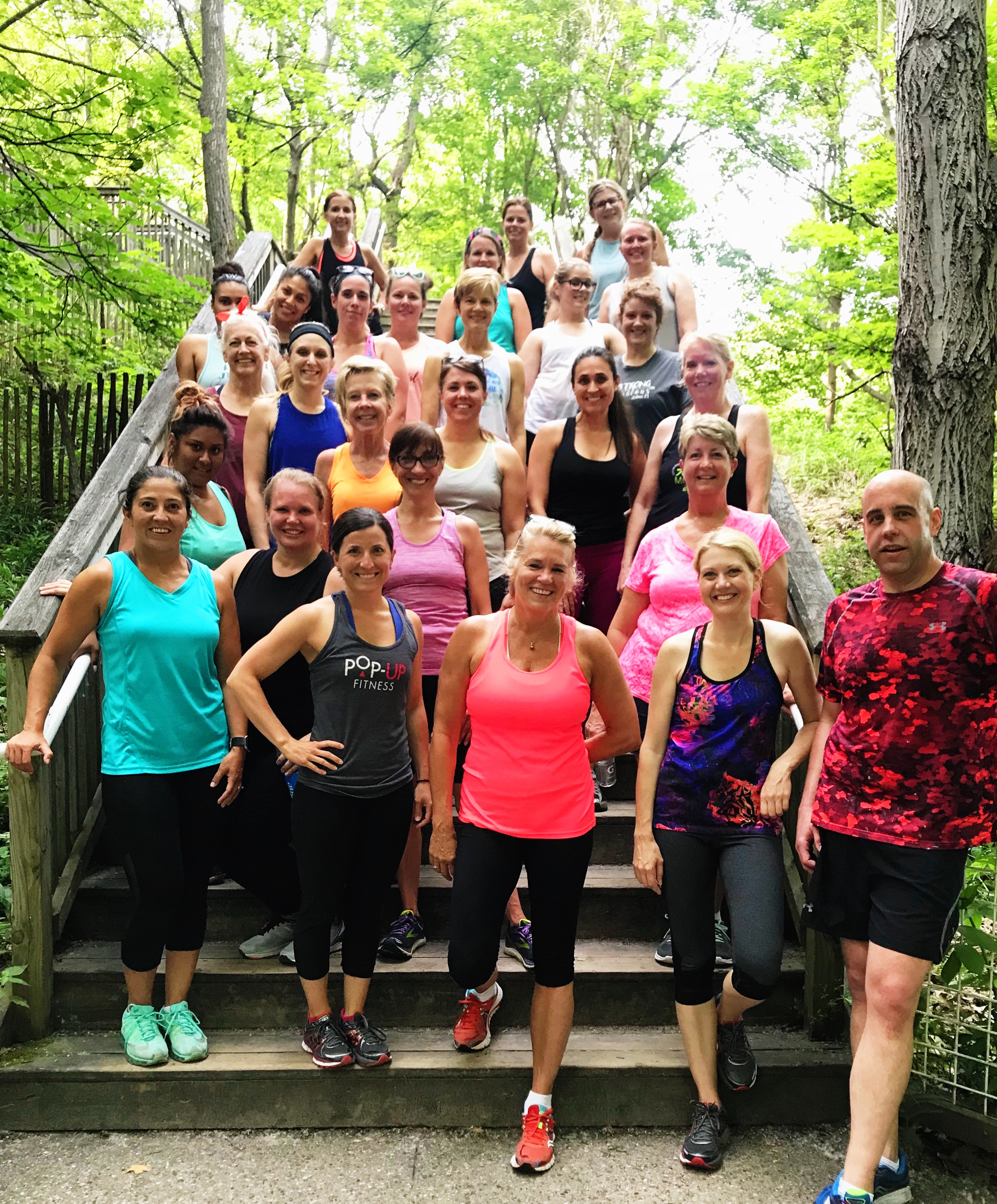 Pop Up Fitness takes your workout to the lakeshore.