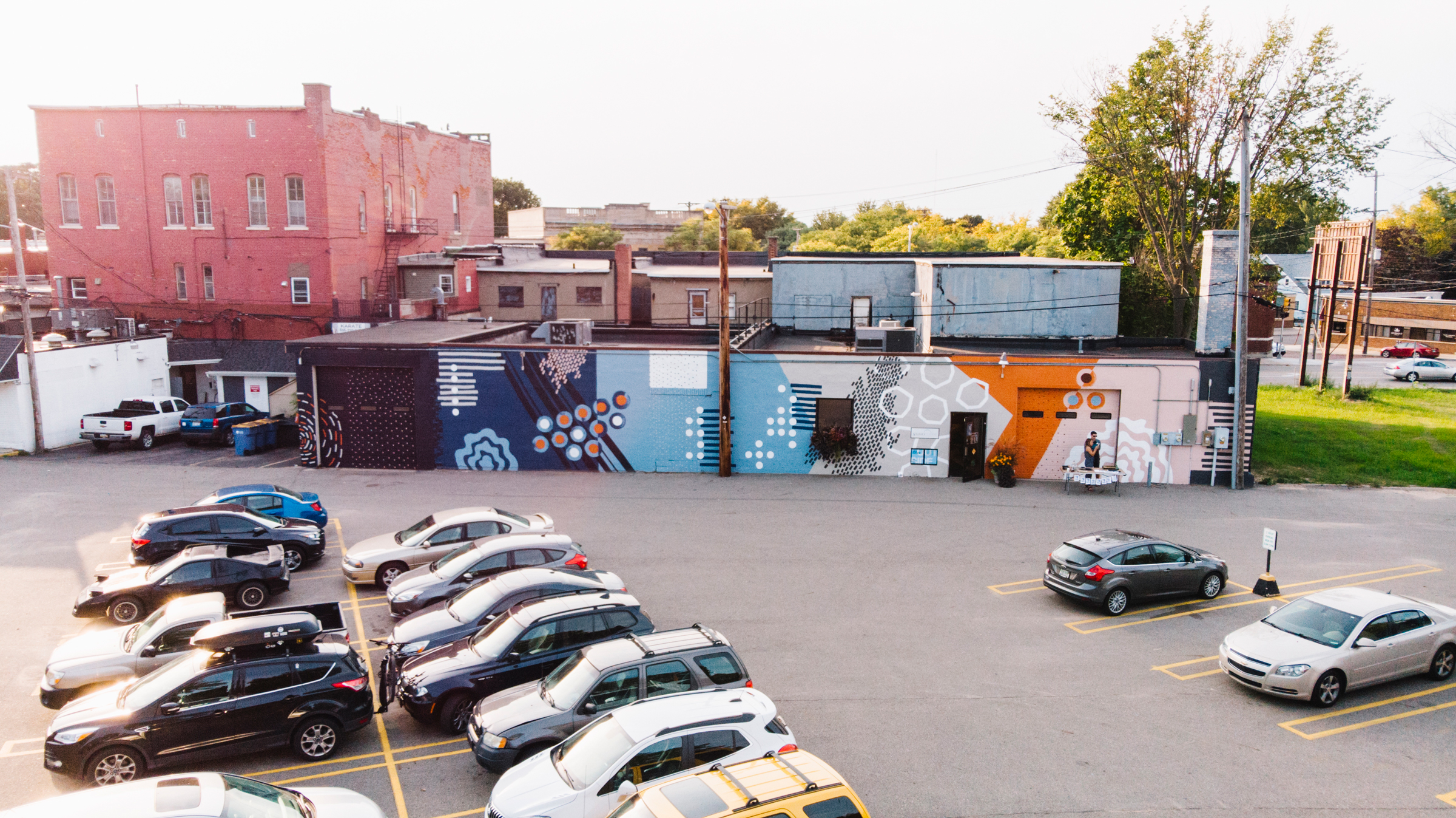 Mural on the backside of Stonesthrow by Evas've. Photo by Carbon Stories