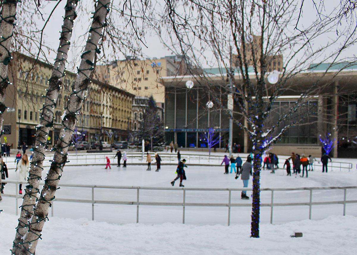 Rosa Parks Circle Ice Skating Rink