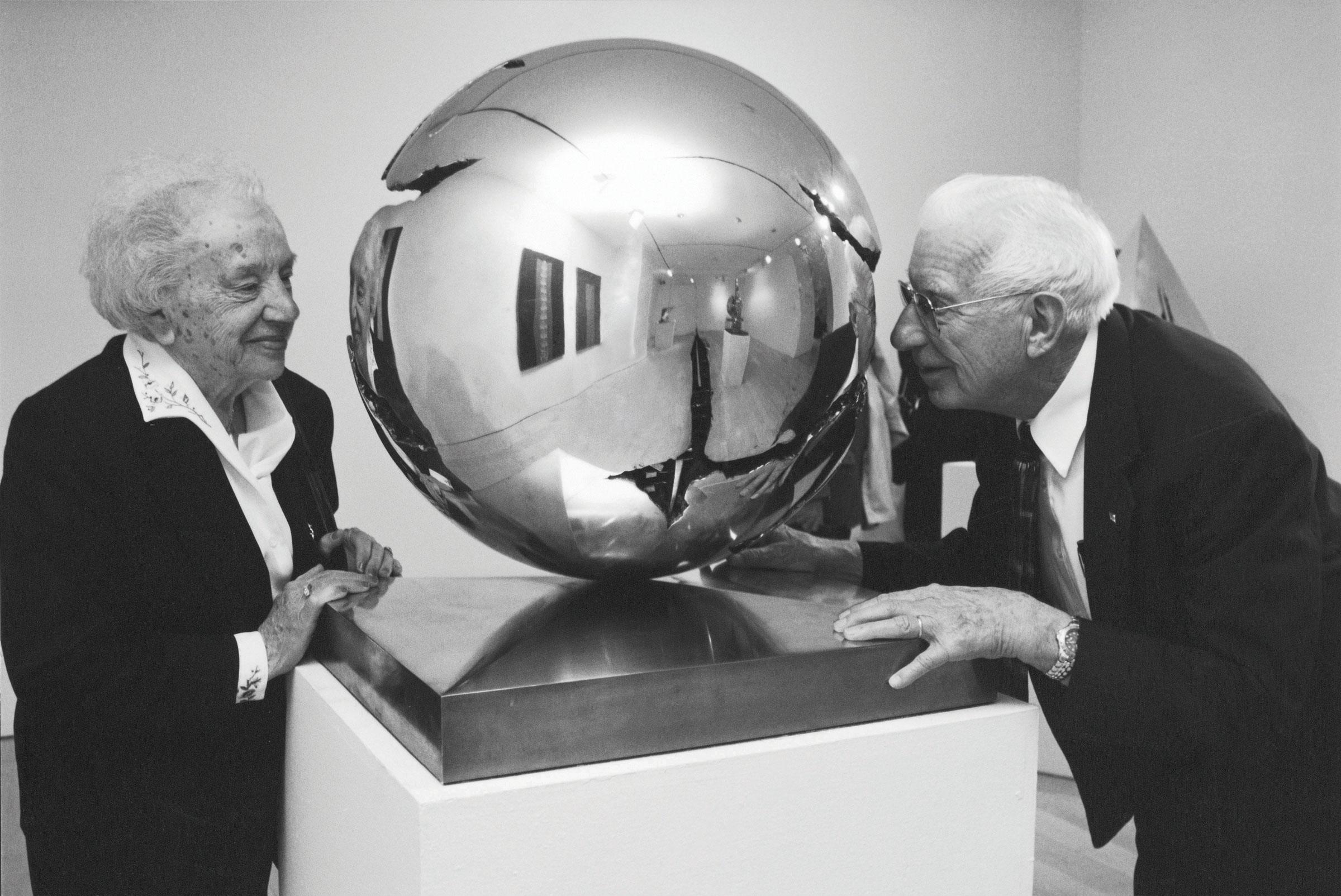 Fred and Lena in Milan, Italy studio of Arnaldo Pomodoro.
