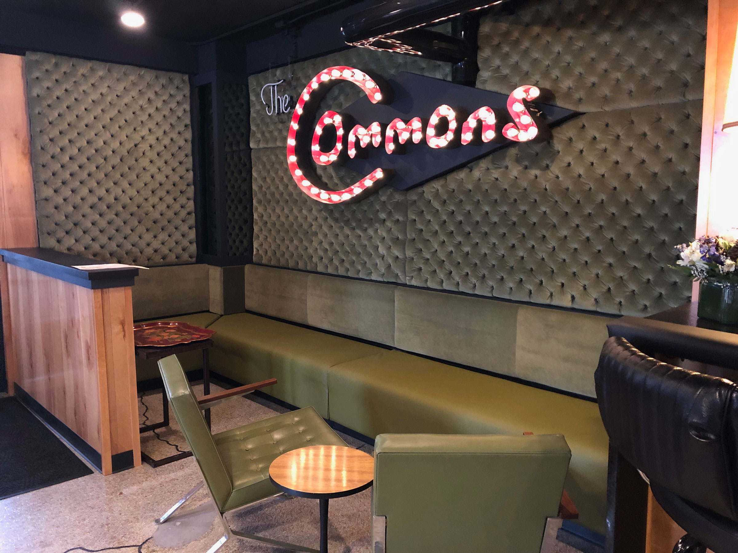 The Commons waiting area.