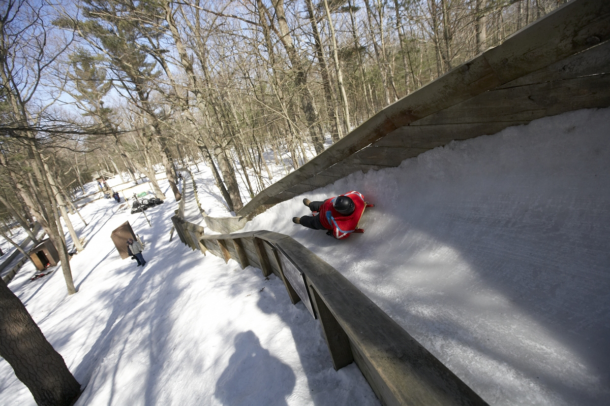 Muskegon Winter Sports Complex luge track
