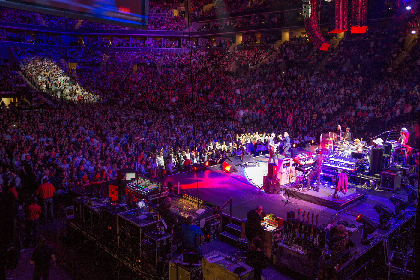 The Who concert stage and crowd