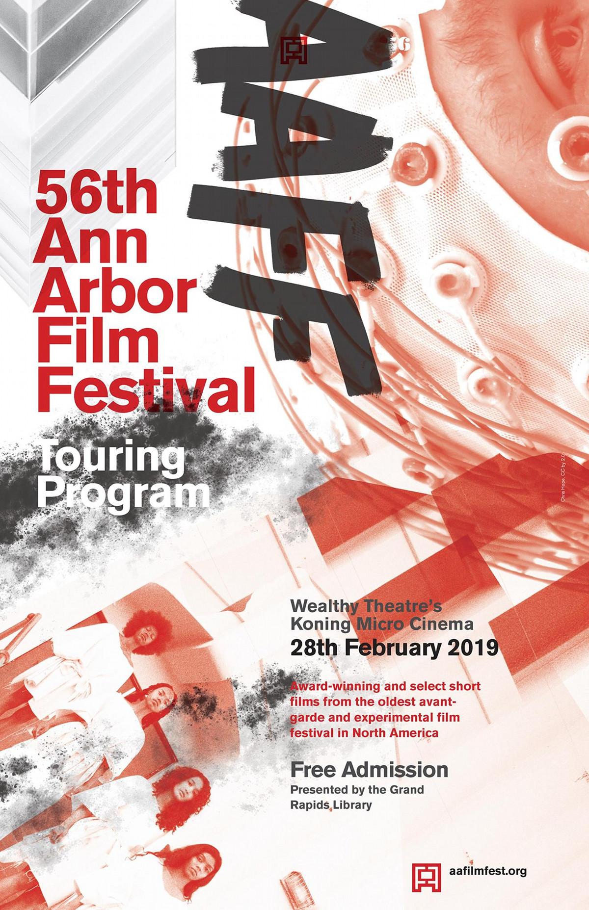 56th Ann Arbor Flim Festival Touring Program poster