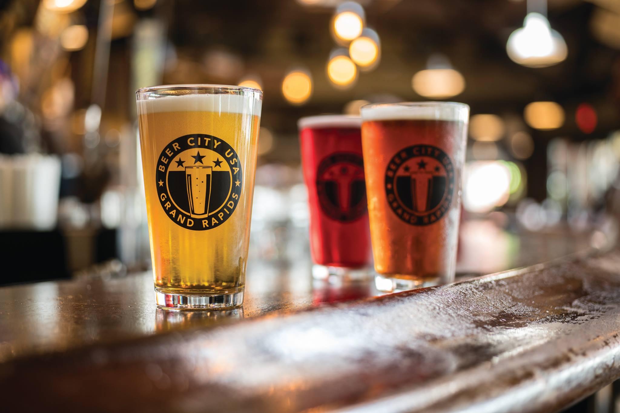 Beer Month GR beer glasses bar